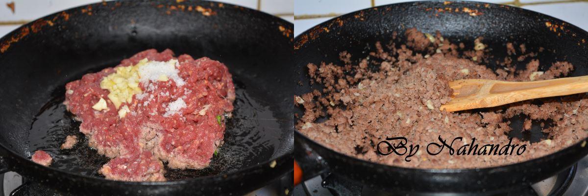 Catless à la viande hachée étape 2