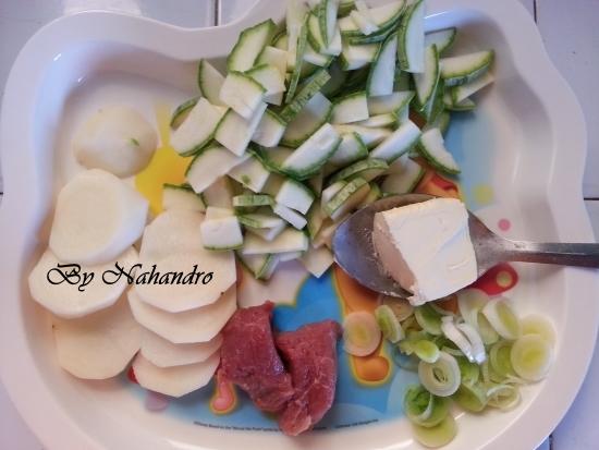 Recette facile pour bébé de purée de courgettes ingredients