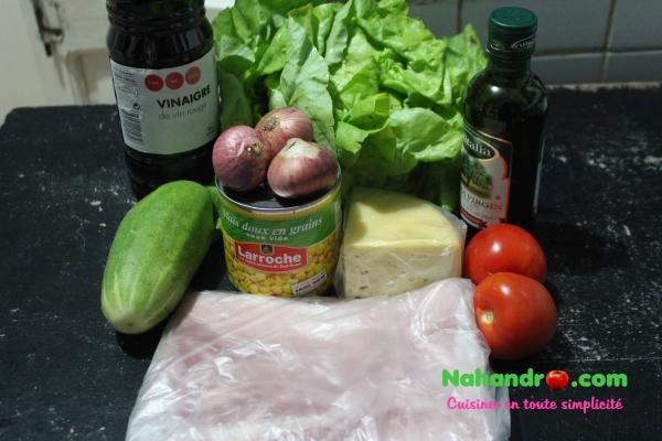 Recette salade composée simple ingrédients