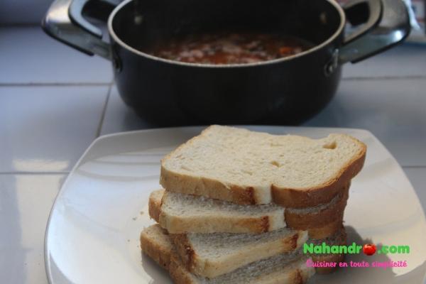 Toast à la sauce bolognaise ingrédients