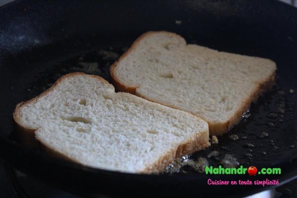 Toast à la sauce bolognaise 2