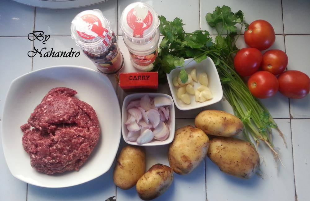 ingrédients boulettes de viande