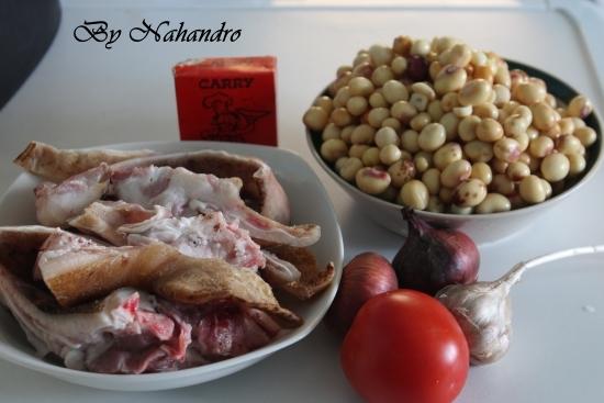 oreilles de porc aux pois de bambara ingrédients