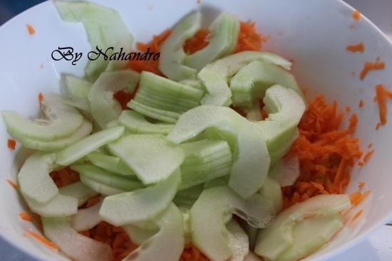 salade de concombres et carottes 2