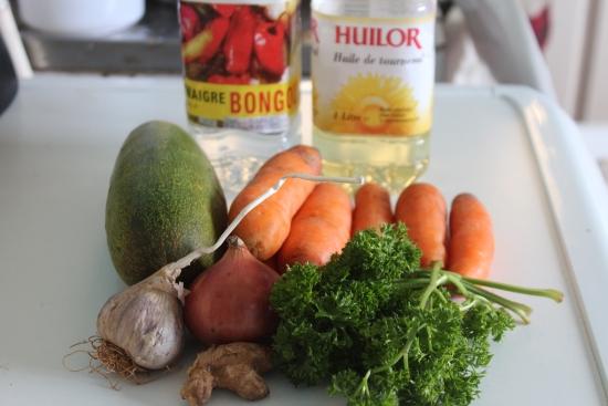 salade de concombres et carottes ingrédients