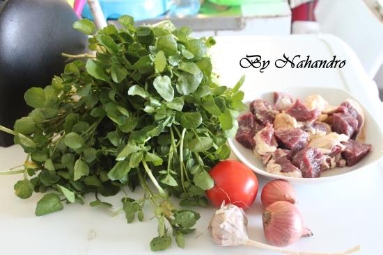 soupe de cresson aux viandes de bœuf ingrédients