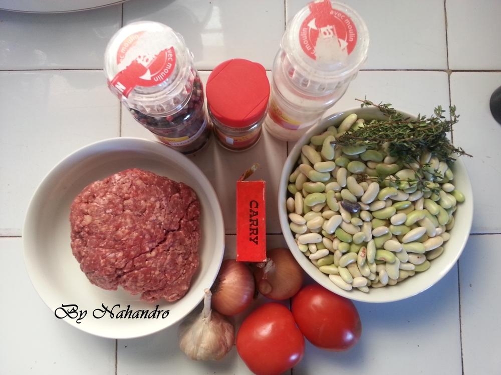 viande hachée aux haricots ingrédients
