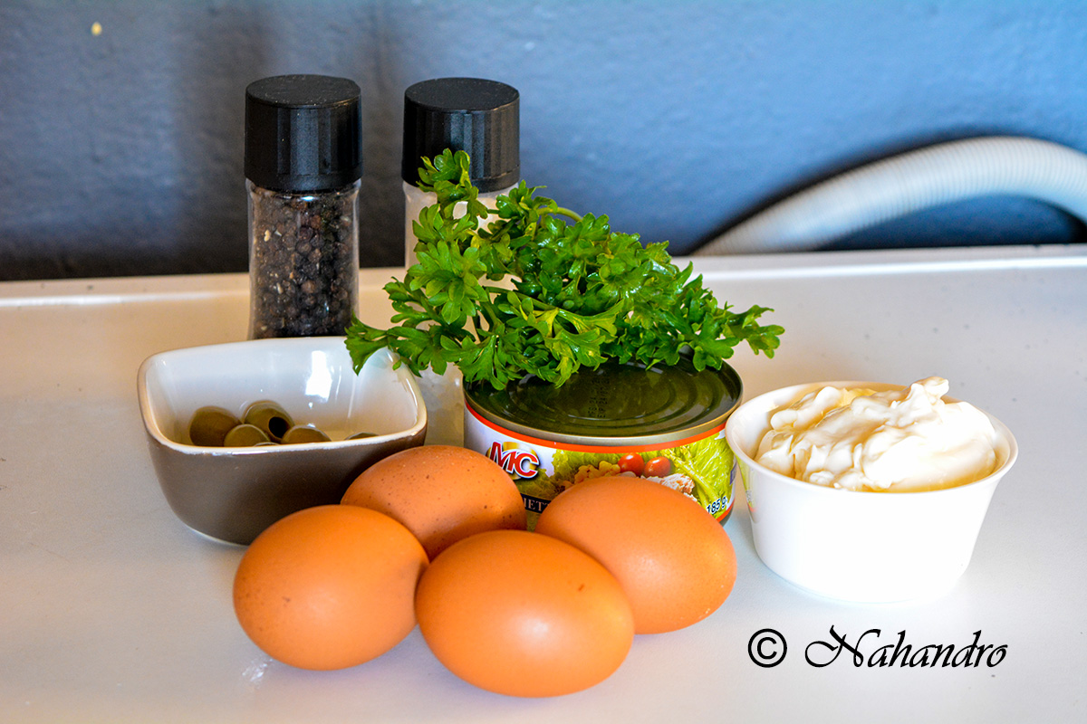 Oeufs mimosas au thon ingrédients