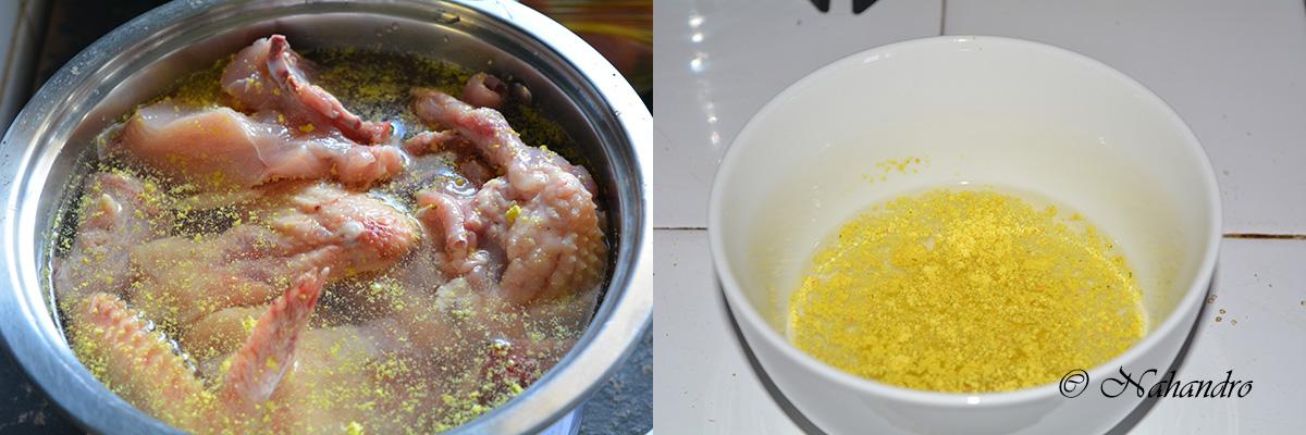 poulet à la sauce suprême etape 1