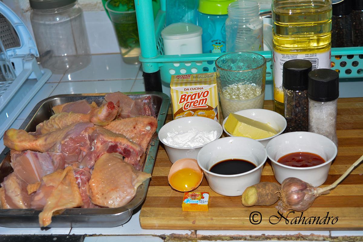 poulet à la sauce suprême ingrédients
