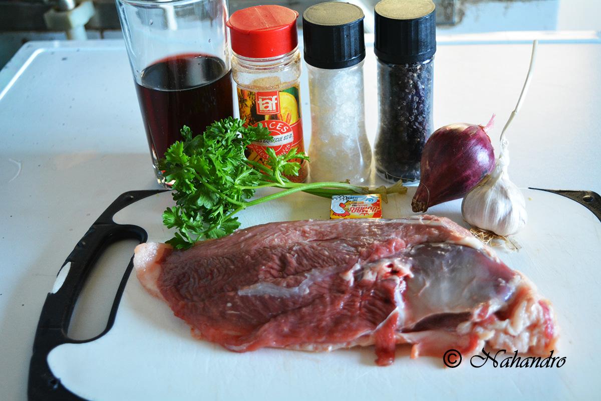 Magret de canard avec sa sauce au vin rouge ingrédients