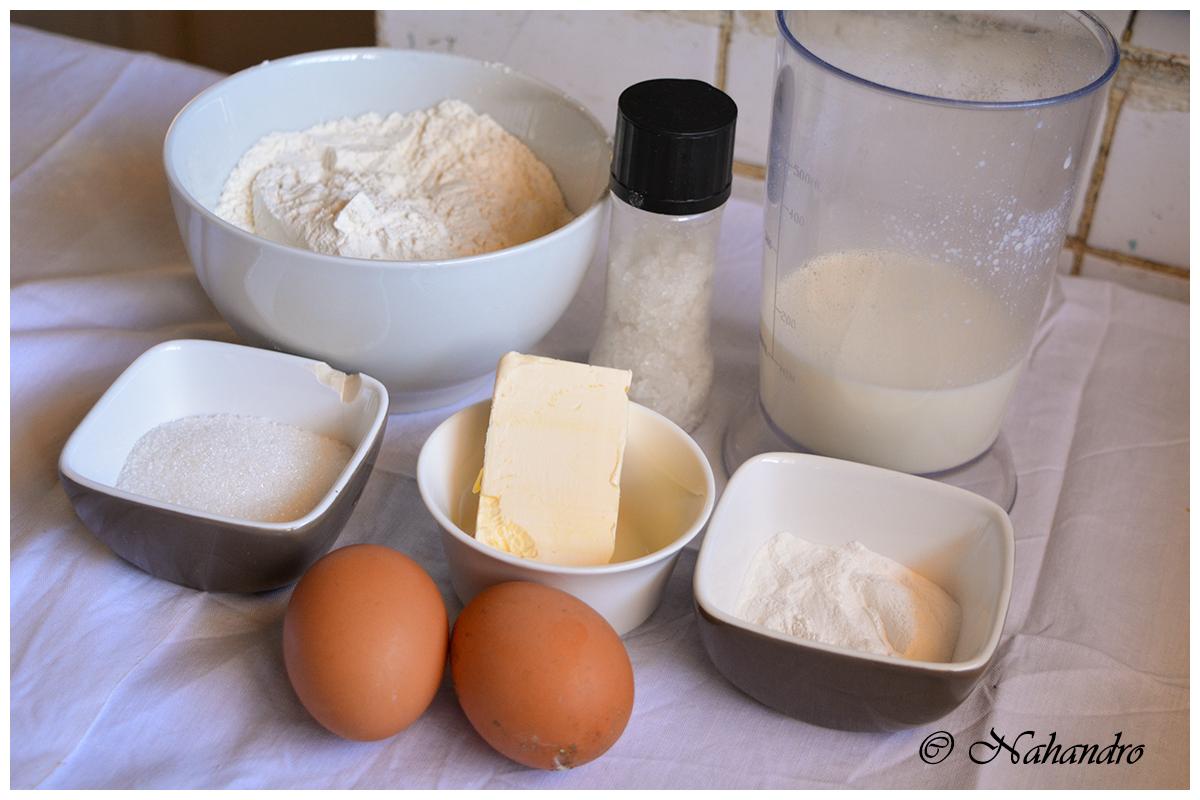 Réussir des pancakes ingrédients