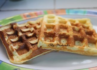 Recette facile de gaufre à l'orange main
