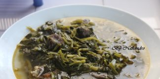 soupe de cresson aux viandes de bœuf